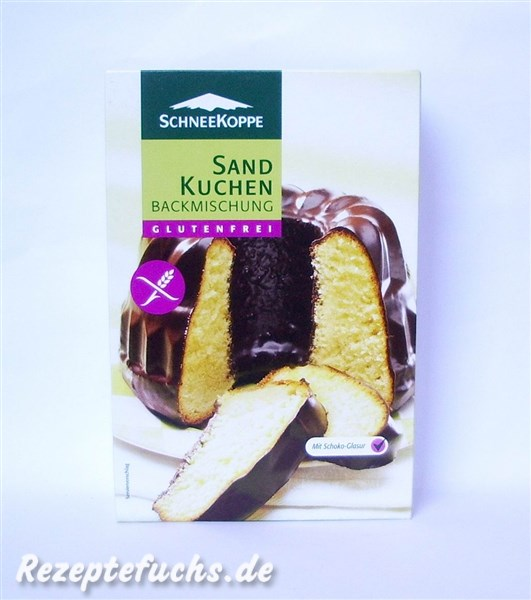Rezeptefuchs Album Schneekoppe Sand Kuchen Backmischung 1