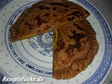 Gefüllte Parata-Brote